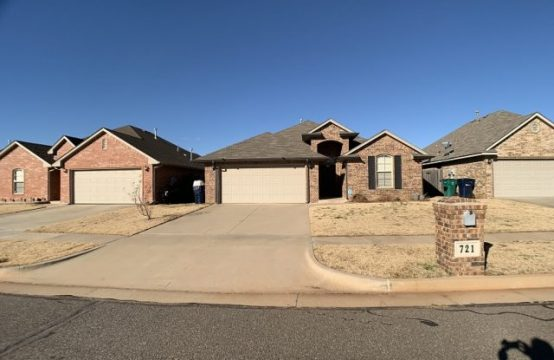 721 NW. 121st Terr. OKC house for rent